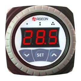 CONTROLADOR AGEON H105 COLOR  DUPLO ESTÁGIO COM 1 SENSOR NTC 85 A 300 VAC