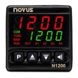 CONTROLADOR DE PROCESSOS NOVUS N1200 USB 3 RELES RS485 24V PID ADAPTATIVO 100 A 240 VAC 8120200224