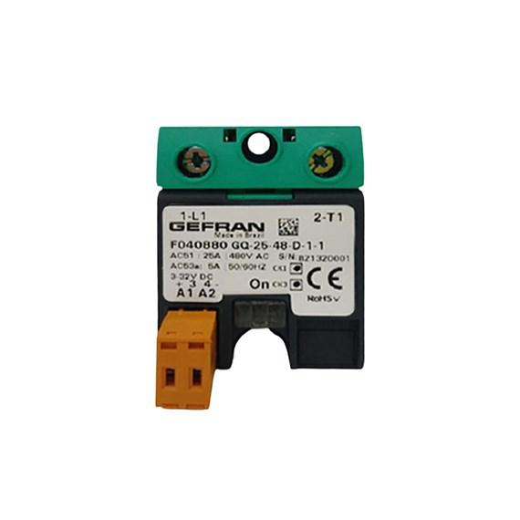 Relé de Estado Sólido GEFRAN 25A 3/32 VDC 480VAC  F040880 GQ-25-48-D-1-1