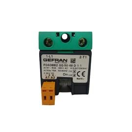 Relé de Estado Sólido GEFRAN 50A 3/32 VDC 480VAC F040882 GQ-50-48-D-1-1
