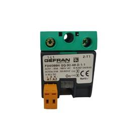Relé de Estado Sólido GEFRAN 90A 3/32 VDC 480VAC F040884 GQ-90-48-D-1-1