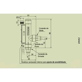 SENSOR DE FLUXO EICOS FA14B06-M12