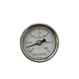 "TERMÔMETRO ANGULAR Ø 2"" HASTE  3/8""  X 150MM ROSCA 1/2"" BSP 0/300°C"