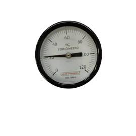"TERMÔMETRO ANGULAR Ø 3"" HASTE  3/8""  X 250MM ROSCA 1/2"" BSP 0/120°C"