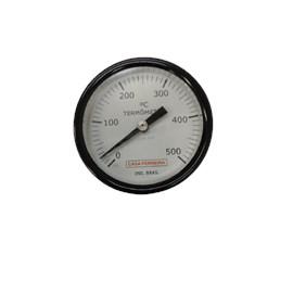 "TERMÔMETRO ANGULAR Ø 3"" HASTE  3/8""  X 300MM ROSCA 1/2"" BSP 0/500°C"