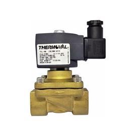 "VÁLVULA THERMOVAL COD. 21884 2/2 VIAS 3/4"" BSP NF 220VAC 150PSI  130°C VITON LATÃO"